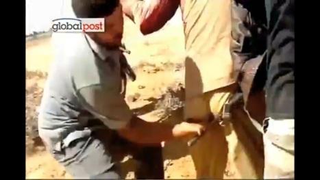 قذافی پس از دستگیری مورد شکنجه های غیر انسانی قرار گرفت